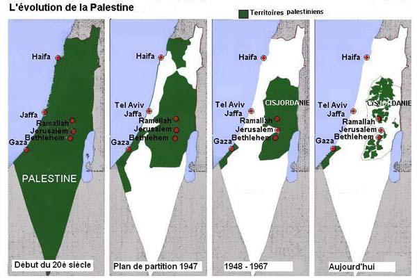 En finir avec les enclaves palestiniennes.