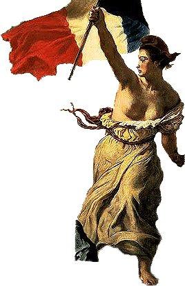 Je sais que cette image illustre la république maçonnique mais personnellement je la prends comme étant l'image de la France engagée pour sa liberté contre la dictature judéo-maçonnique justement.